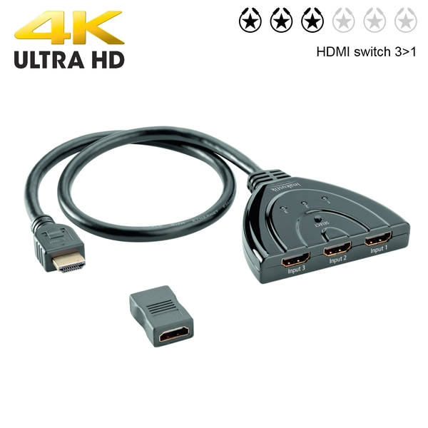 Star HDMI switch 3>1 (autoswitch) 4k