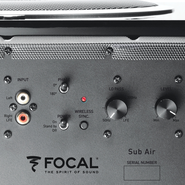 Focal Sub Air aansluitingen